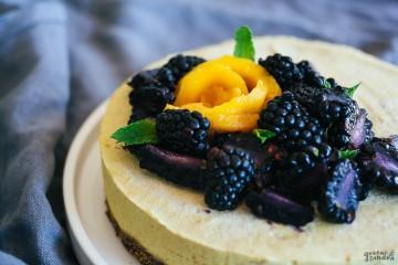 Cheesecake vegano de mandarina