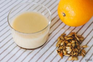 Leche de semillas de calabaza con naranja