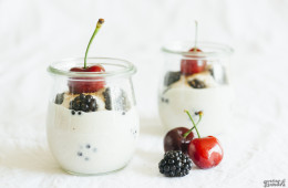 Yogur vegano rápido de almendras